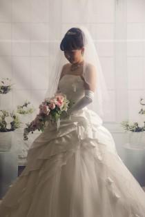 日野さん白ドレス ①