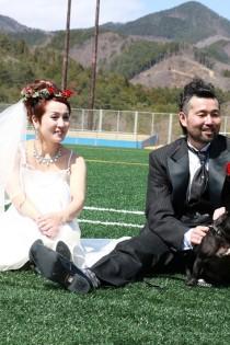 中島さん と犬