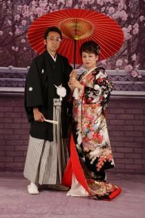 木村さん2人 傘